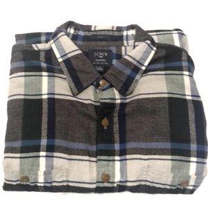 J Crew Slim Flannel Button Down Long Sleeve Shirt